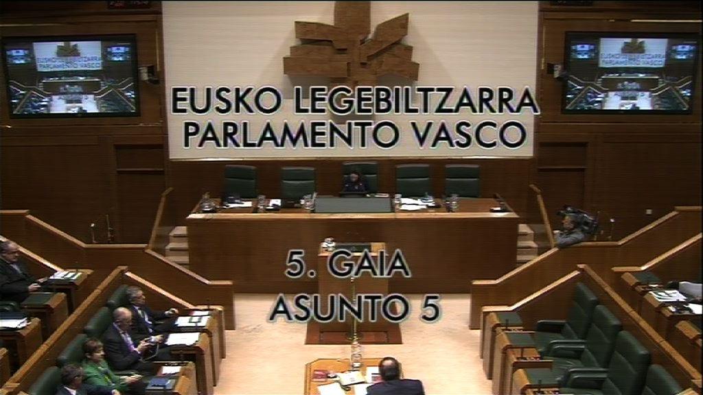 Pregunta formulada por D. Gorka Maneiro Labayen, parlamentario del grupo Mixto-UPyD,  al lehendakari, sobre la calificación de ETA como fenómeno político, militar y cultural; en  el programa de la capital cultural europea San Sebastián 2016.