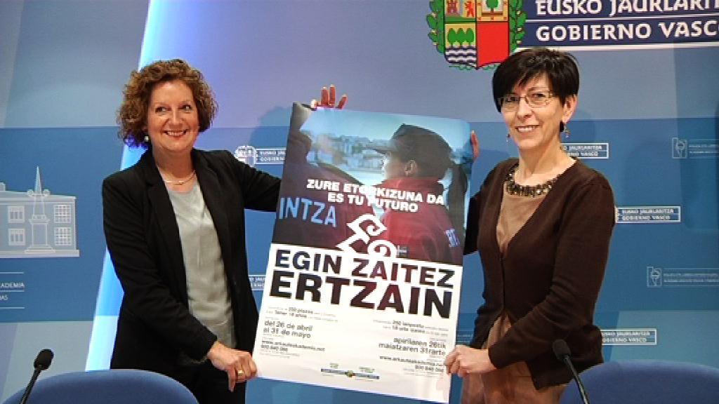 El Departamento de Seguridad publica una nueva convocatoria de 250 plazas en la Ertzaintza para seguir con el proceso de renovación generacional y mantener la plantilla de 8.000 ertzainas