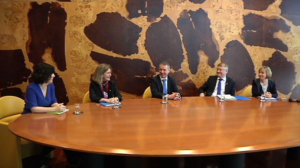 Lehendakaria Markku Markkula Eskualdeen Komiteko presidentearekin bildu da