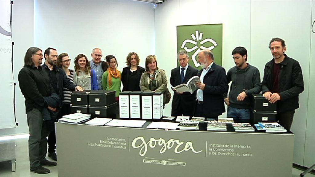 El Instituto Gogora guardará archivos de personas desaparecidas o represaliadas de la Guerra Civil