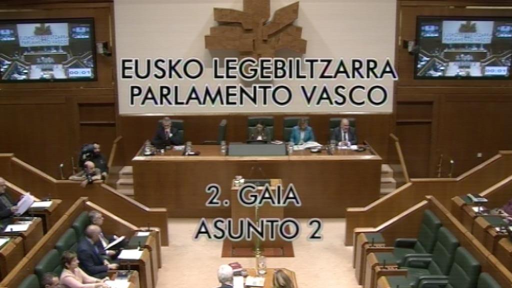 Pregunta formulada por D. Unai Urruzuno Urresti, parlamentario del grupo EH Bildu, al lehendakari, sobre necesidad de hacer respetar las decisiones de la ciudadanía vasca y de las instituciones vascas.