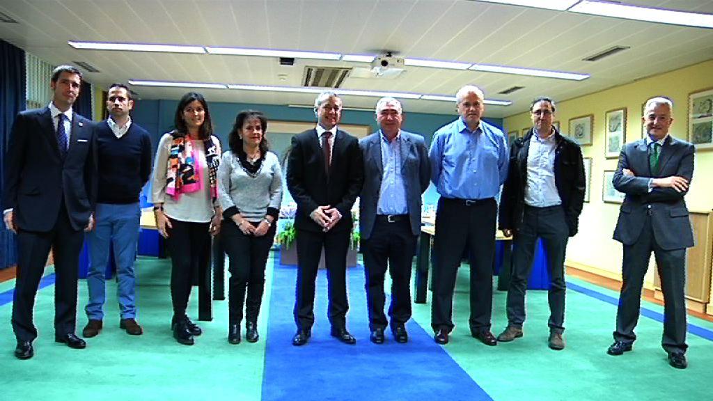 El lehendakari ha recibido a representantes del Colegio Nuestra Señora de la Antigua de Orduña