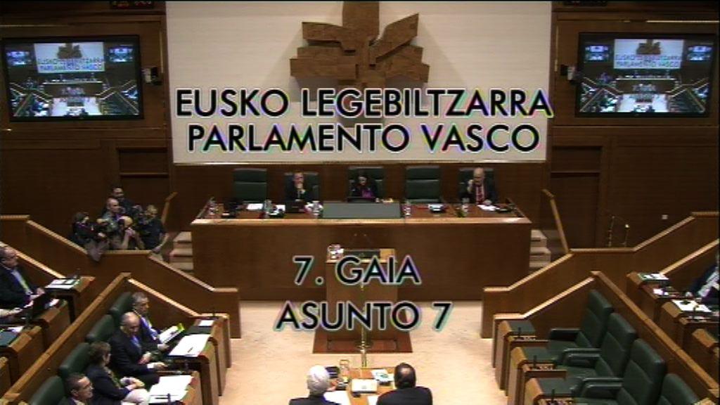 Pleno de ConInterpelación formulada por D. Hasier Arraiz Barbadillo, parlamentario del grupo EH Bildu, al lehendakari, sobre las medidas para hacer frente a la estrategia recentralizadora puesta en marcha por el Estado. trol (20/05/2016)