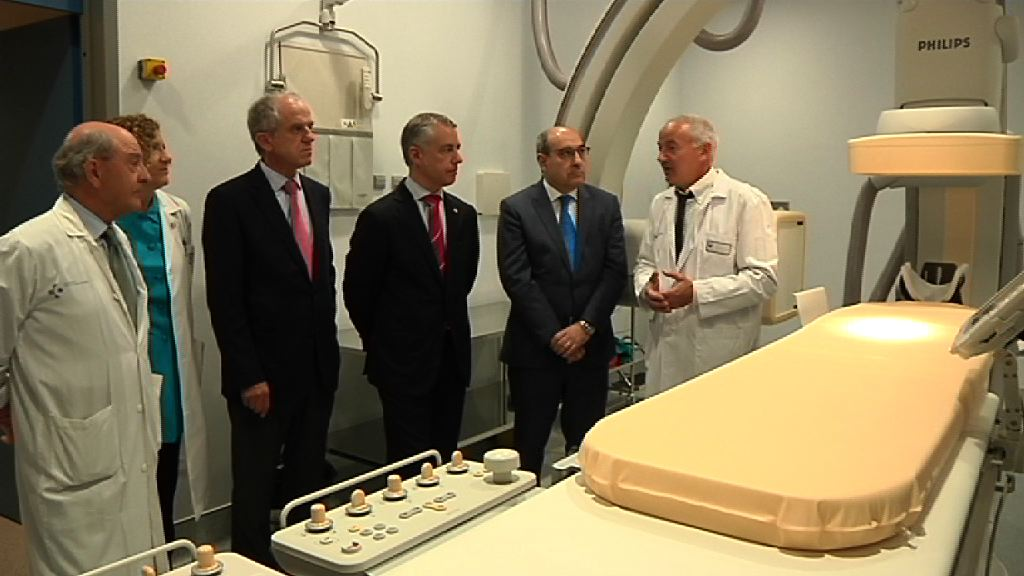 El angiógrafo digital de la OSI Bilbao Basurto incorpora la tecnología más avanzada para reforzar la seguridad del paciente y la calidad del diagnóstico