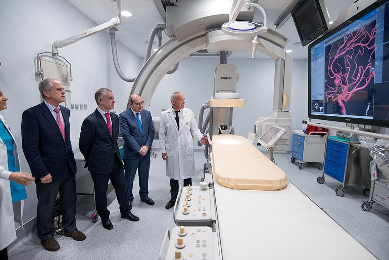 Bilbao Basurto ESIko angiografo digitalak teknologiarik aurreratuena du, eta pazienteari segurtasun handiagoa eskainiko dio, eta kalitate hobea diagnostikoari