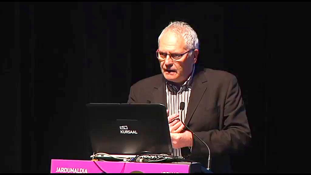 """Jornada: """"Especialización inteligente, una estrategia innovadora para Euskadi"""". Kevin Morgan, profesor de Gobernanza y Desarrollo en la Universidad de Cardiff y asesor del Comisario Europeo de Política Regional y Urbana"""