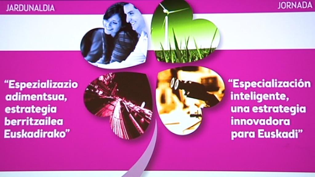 """Jornada: """"Especialización inteligente, una estrategia innovadora para Euskadi"""" (8 de junio. Kursaal. San Sebastian)"""