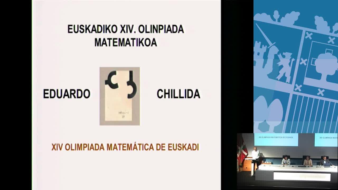 Entrega de premios de la XIV Olimpiada Matemática Eduardo Chillida