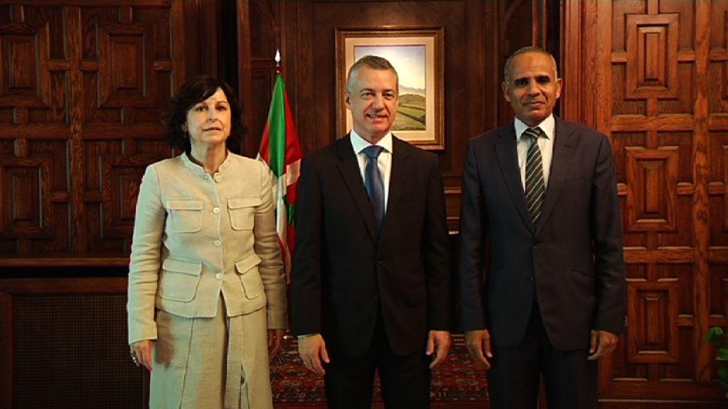 Lehendakaria Mauritaniako enbaxadorearekin bildu da Ajuria Enea jauregian
