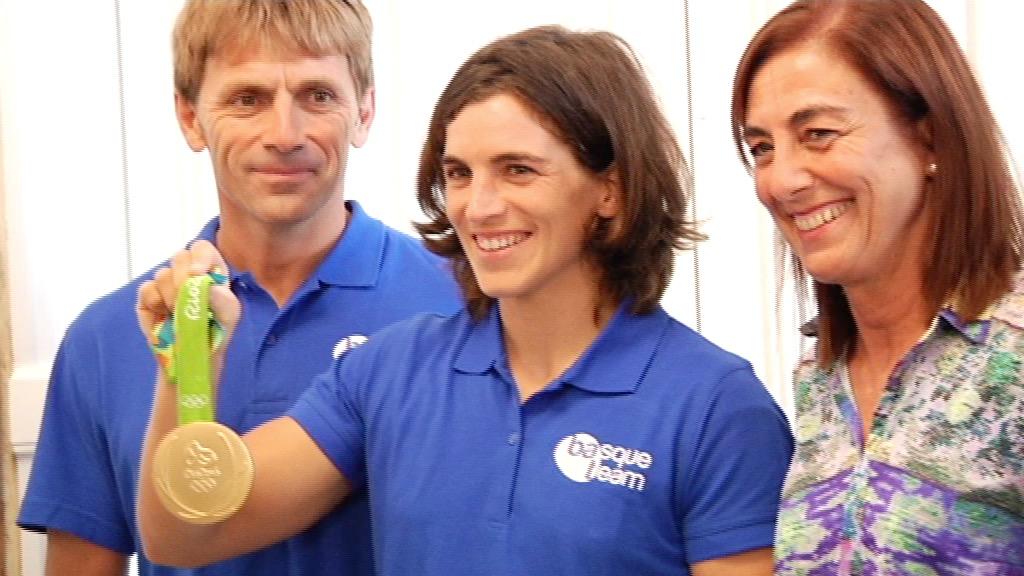 Maialen Chourraut ya está en casa tras su reciente oro olímpico en rio 2016