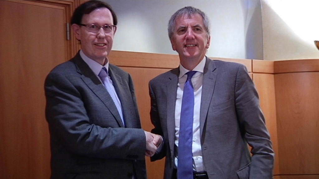 Meeting between the Basque Treasury and Finance Minister and Northern Ireland's Minister of Finance