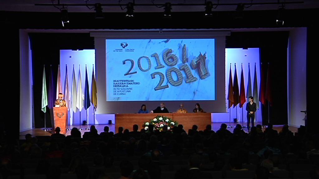 La UPV/EHU da apertura al curso académico 2016-2017
