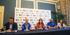 Los deportistas paralímpicos Asier García y Amador Granados presentan las medallas logradas en Río 2016