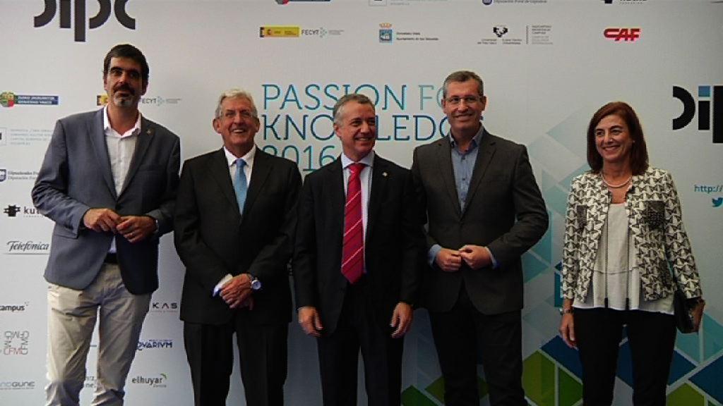 El lehendakari inaugura en San Sebastián el festival Passion for Knowledge 2016