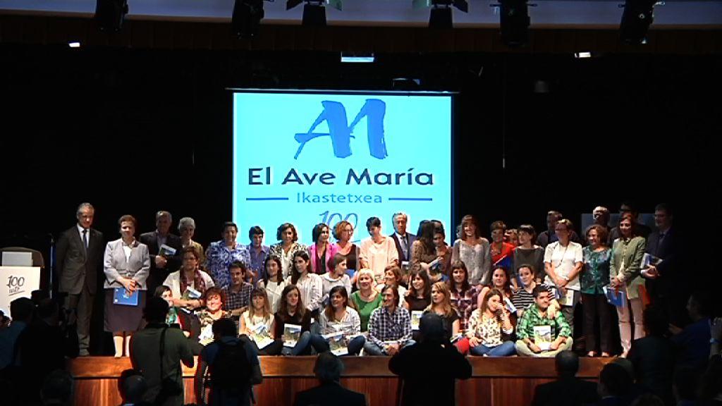 Lehendakaria El Ave María Ikastetxearen ehun urteurrena ospatzeko ekitaldian izan da