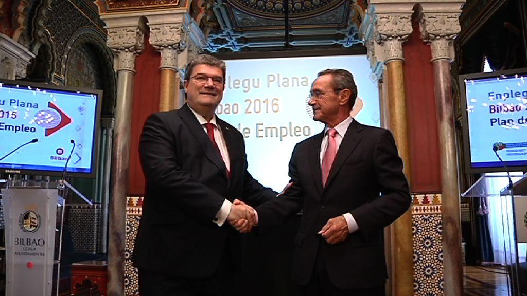 Gobierno Vasco y Ayuntamiento presentan el Plan de Empleo Bilbao 2016, que generará más de 500 puestos de trabajo