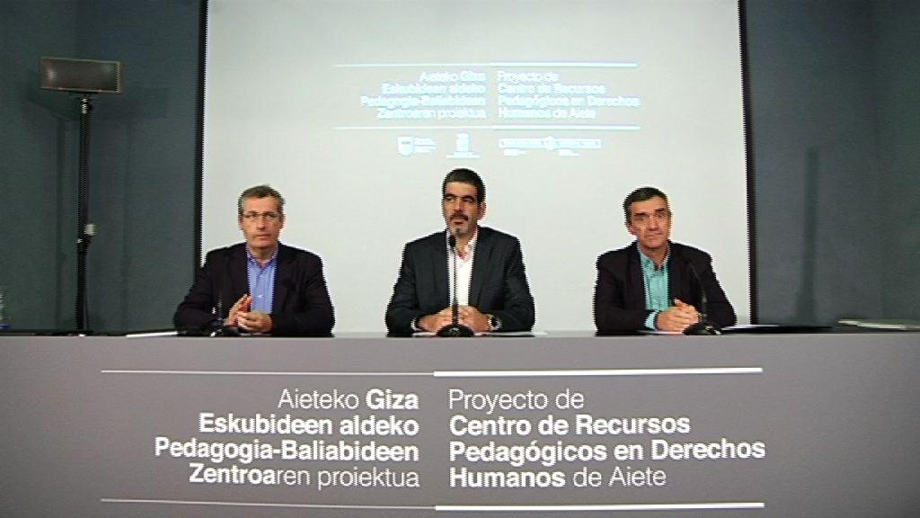 Agentes del ámbito educativo y de derechos humanos debaten sobre el nuevo Centro de Recursos Pedagógicos de Aiete