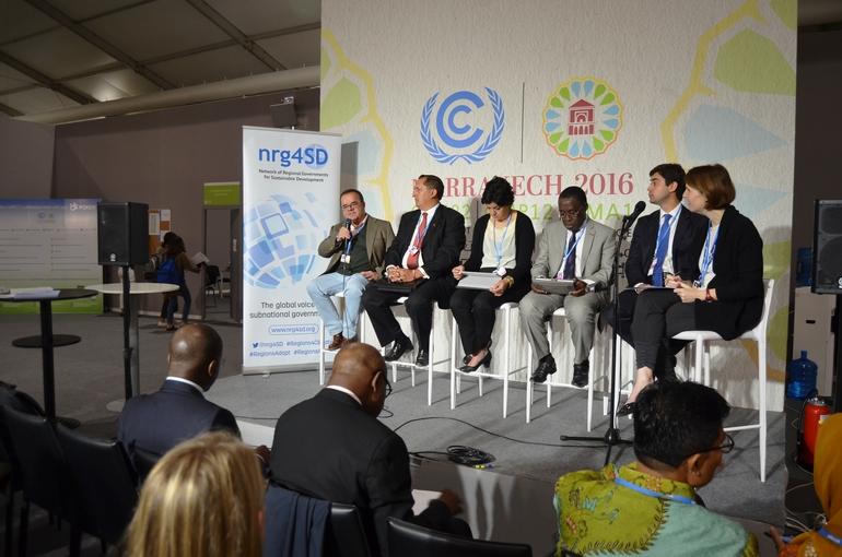 Intervención de Iñaki Susaeta en el side event de nrg4sd de la COP 22 de Marraketch