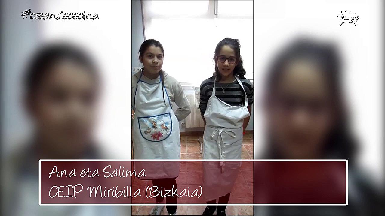 """""""Sukaldaritza Sorten KIDZ""""en Finala. Ana eta Salima, Miribilla HLHI (Bizkaia)"""