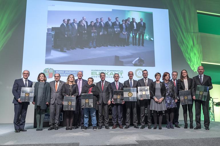 El Lehendakari ha presidido la entrega del Premio Vasco a la Gestión Avanzada