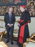 El Lehendakari se reúne con el Secretario de Estado del Vaticano, Cardenal Pietro Parolin