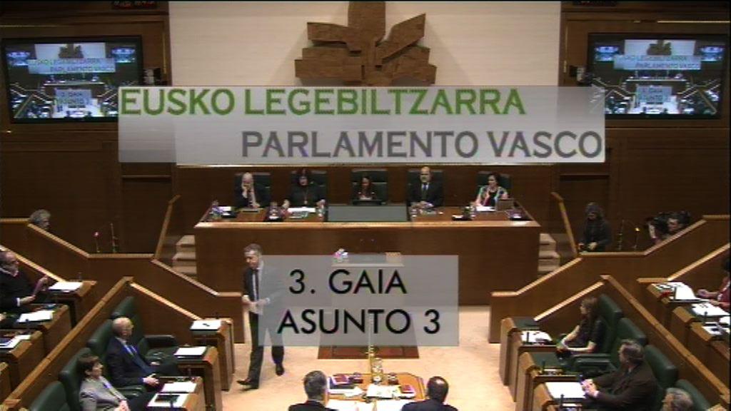 Pregunta formulada por D.ª Eukene Arana Varas, parlamentaria del grupo Elkarrekin Podemos, al Lehendakari, relativa a los casos de pederastia relacionados con la Iglesia
