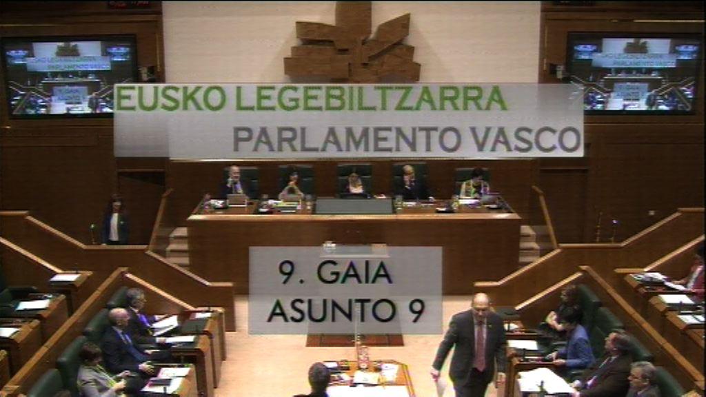 Interpelación formulada por D.ª Miren Larrion Ruiz de Gauna, parlamentaria del grupo EH Bildu, al Lehendakari, sobre los propósitos del Gobierno para superar la mera gestión de los límites del actual marco jurídico-político.