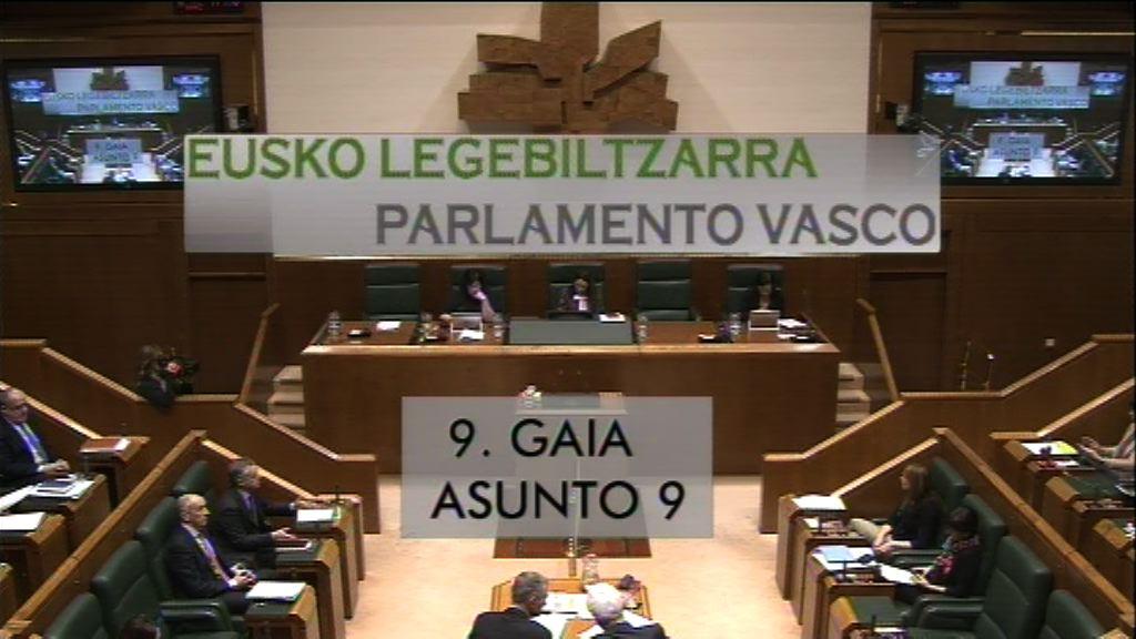 Pregunta formulada por D.ª Maddalen Iriarte Okiñena, parlamentaria del grupo EH Bildu, al lehendakari, sobre el pacto que desea alcanzar con el Estado español para el año 2020.