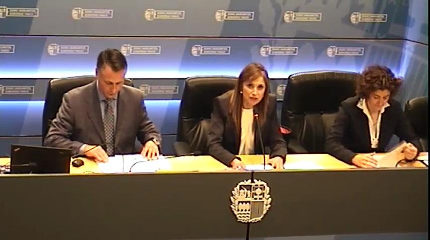 La Consejera de Trabajo y Justicia, María Jesús San José, se compromete junto a la Inspección de Trabajo a que en los próximos dos ejercicios se revisen todos los contratos a tiempo parcial que existen actualmente en Euskadi