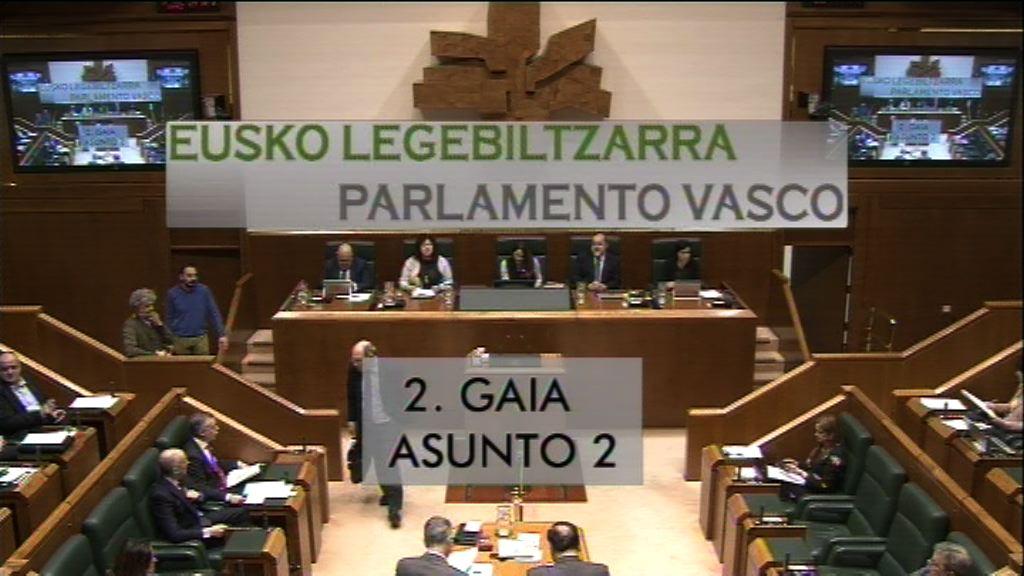 Pregunta formulada por D.ª Maddalen Iriarte Okiñena, parlamentaria del grupo EH Bildu, al lehendakari, relativa a las declaraciones del portavoz del grupo parlamentario Nacionalistas Vascos sobre la necesidad de un Estado vasco.