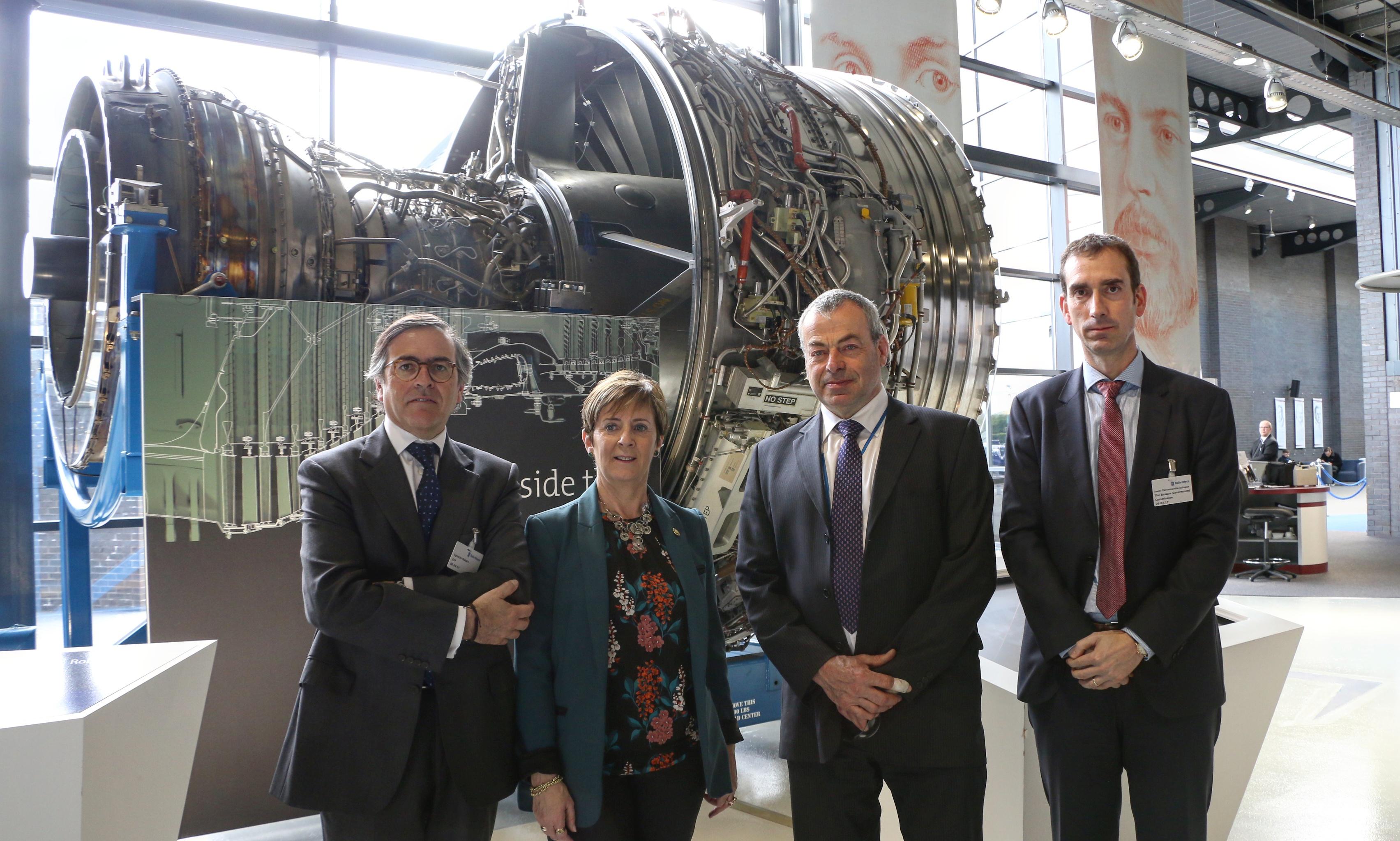 El Gobierno Vasco ofrece colaboración para que  ITP se consolide como planta de referencia en el Grupo Rolls-Royce