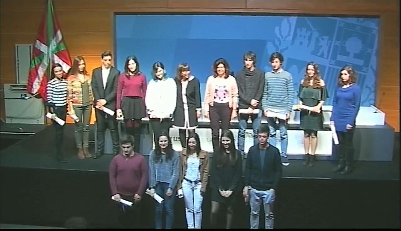 Acto de entrega de los Premios Extraordinarios de Bachillerato, 2015-2016