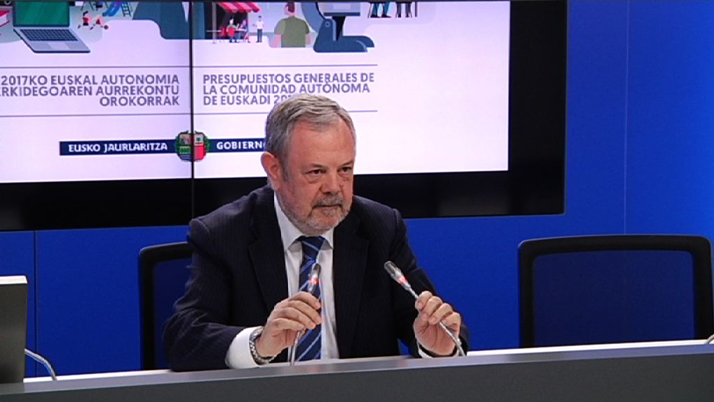 Eusko Jaurlaritzak 11.000 milloi eurotik gorako aurrekontua du