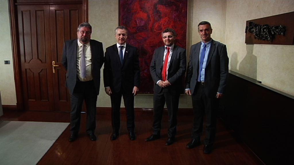 El Lehendakari ha mantenido un encuentro con Fabián Salvioli, ex presidente del Comité de Derechos Humanos de Naciones Unidas