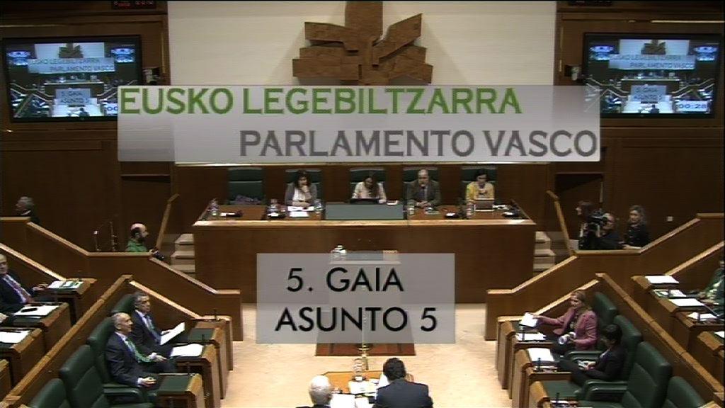 Pregunta formulada por D. Alfonso Alonso Aranegui, parlamentario del grupo Popular Vasco, al lehendakari, sobre la importancia de la estabilidad política