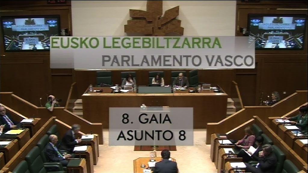 Pregunta formulada por D. Julen Arzuaga Gumuzio, parlamentario del grupo EH Bildu, al lehendakari, relativa a los pasos que es necesario dar para la anulación de la legislación de excepción tras el desarme de ETA
