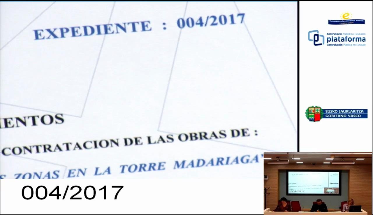 Apertura de Plicas Económica - 004/2017 - Reforma de varias zona en la Torre Madariaga, Busturia.
