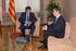 Carles Puigdemont President-a eta Urkullu Lehendakaria Bartzelonan batzartu dira