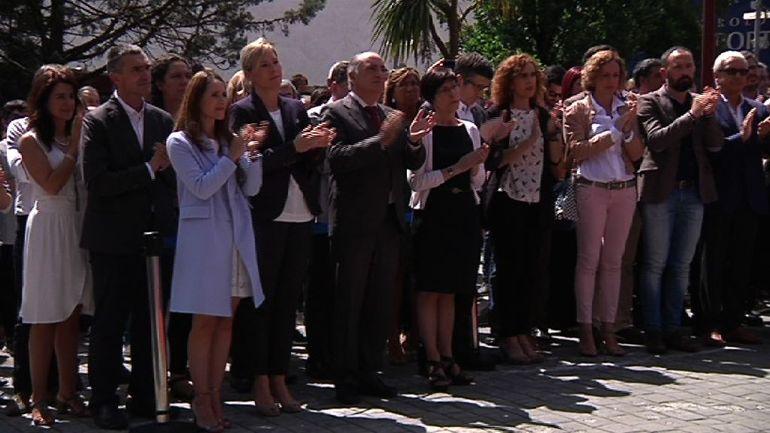 El Gobierno Vasco participa en Ermua en el homenaje a Miguel Ángel Blanco