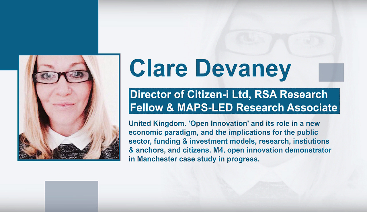 Clare Devaney-ri elkarrizketa. Director of Citizen-i Ltd, RSA Research Fellow & MAPS-LED Research Associate