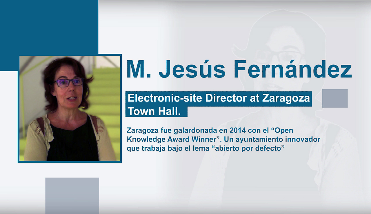 Entrevista a M. Jesús Fernández. Electronic-site Director at Zaragoza Town Hall