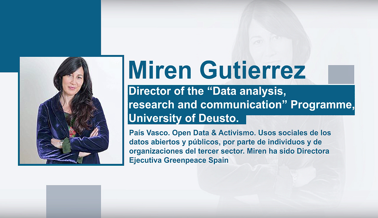 "Miren Gutiérrez-i elkarrizketa. Director of the ""Data analysis research and communication""  Programe, University of Deusto"