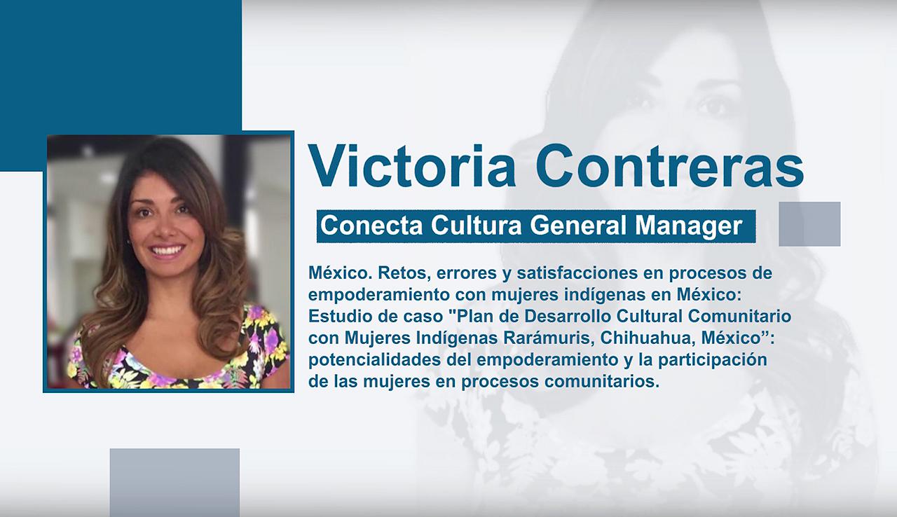 Entrevista a Victoria Contreras. Conecta Cultura General Manager