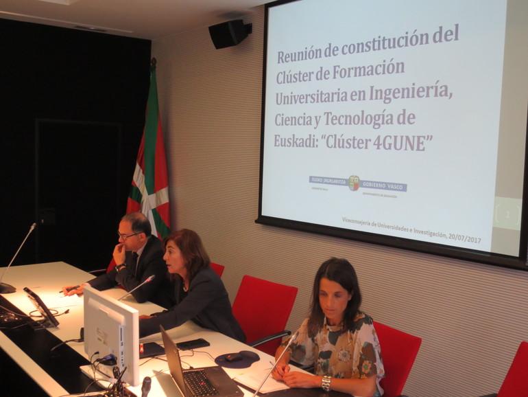 Constituido el Cluster de la formación universitaria en Ingeniería, Ciencia y Tecnología de Euskadi