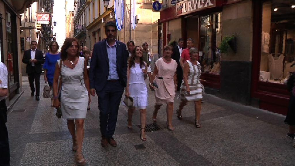 Representantes del Gobierno Vasco asisten a La Salve de Donostia-San Sebastián