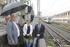 La pasarela peatonal de Zaratamo permite desde hoy sortear las vías del tren