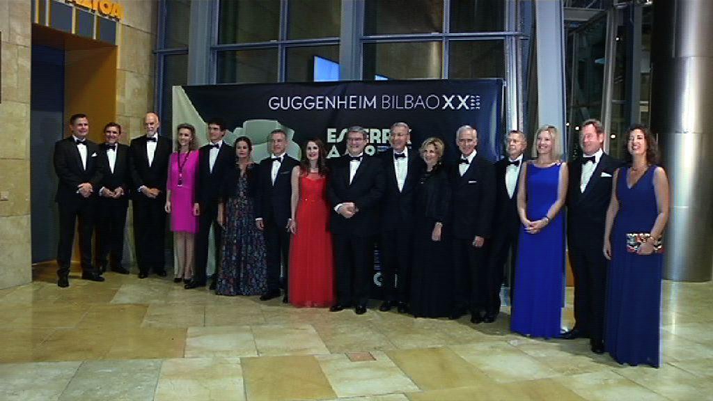 Lehendakaria Bilboko Guggenheim Museoaren XX. urteurrena dela eta egin den afarian izan da