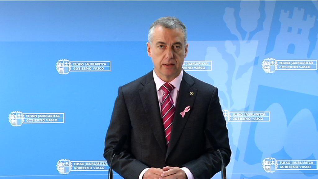 Declaración del Lehendakari dirigida al Gobierno español