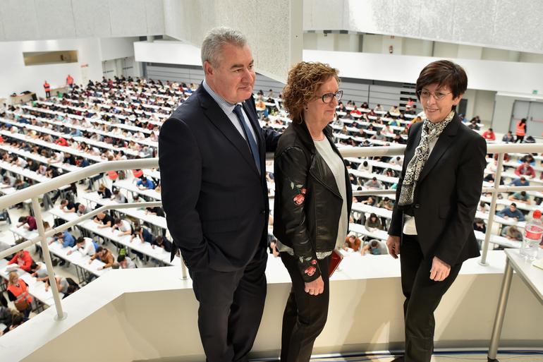 1.285 personas acuden a las pruebas de selección de la primera OPE unificada de Policía Local celebrada en el Palacio de Congresos Europa