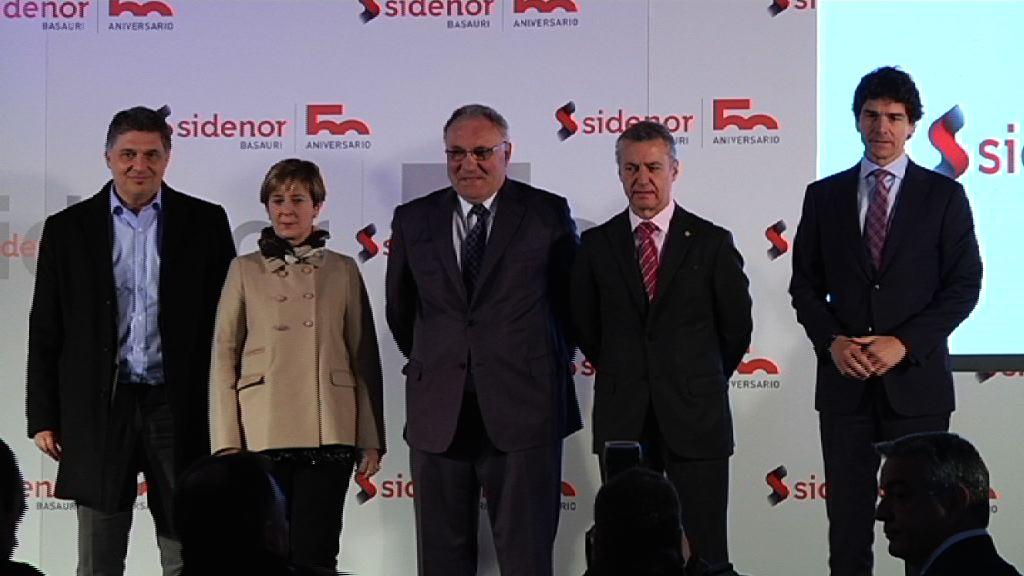 """El Lehendakari reconoce el esfuerzo inversor y """"espíritu vanguardista"""" de Sidenor en el 50 aniversario de la planta de Basauri"""